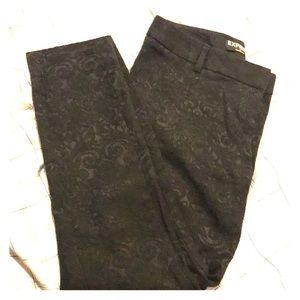 Express Floral Black Columnist Pants